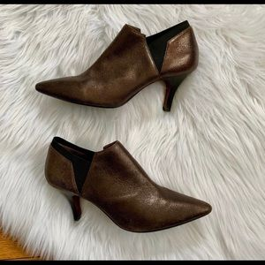 Donald J. Pliner mixed media Tillie ankle booties